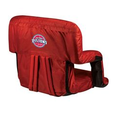 Picnic Time Detroit Pistons Ventura Portable Reclining Seat, Red