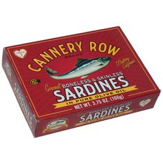 Cannery Row Sardine Company- Boneless/Skinless Sardines in Olive Oil Pure Olive Oil, Cannery Row, Monterey Peninsula, Reading Art, Ho Trains, Old Ads, Pebble Beach, At Home Store, The Row