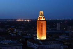 Longhorn Football, University of Texas Tower lit orange Ut Football, Texas Longhorns Football, Ut Longhorns, Collage Football, Eyes Of Texas, University Of Texas, Football University, Hook Em Horns, Texas Forever
