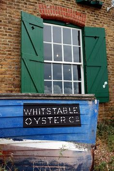 Whitstable oysters - like the wooden boat texture
