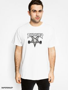 T-shirt Thrasher Skate Goat (white)