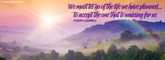 We Must Let Go Of The Life We Have Planned Facebook Cover coverlayout.com