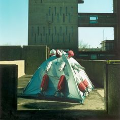 Refuge Wear Intervention London East End 1998. Lucy Orta