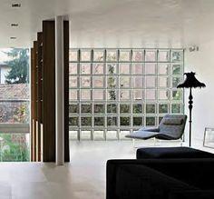 Glass Brick Wall, so stylish!