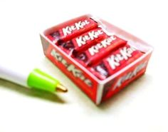 """Miniature Box of Candy Bars Loose in box : 1/12"""" Scale Dollhouse   #HandMade"""