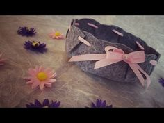 DIY: Cestino in feltro senza cuciture fai da te - YouTube Felt Crafts Diy, Cardboard Crafts, Felt Diy, Flower Arrangement Designs, Flower Arrangements, Doll Videos, Candy Art, Sewing Hacks, Christmas Gifts