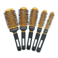 Hair brush Ceramic Nano Ceramic Ionic Hair tech ceramic round brush + GIC-HB516 free shipping