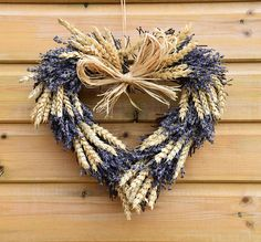 Dried lavender wreath, lavender heart, heart wreath, dried flowers, flower wreath, front door wreath, home decor, floral, rustic wreath