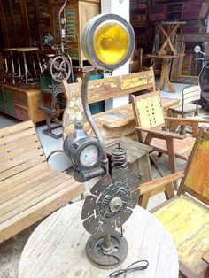 Check out our Vintage Recycle Industrial Lamp!