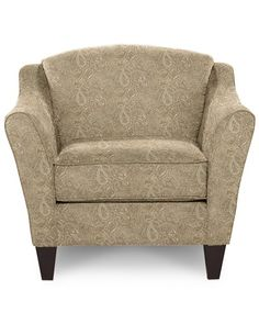 Demi Stationary Occasional Chair - Official La-Z-Boy Website; Pattern - Persia, Color - Straw