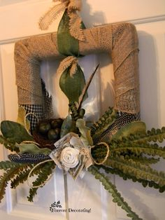 Good DIY Square Wreath