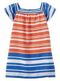 Colorblock stripe flutter dress