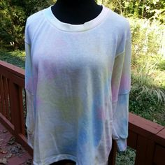 SALEWildfox Dream Tie Dye Pullover Soft, lightweight oversized top in pastel tie dye print. Cotton/poly, hand wash tumble dry. Wildfox Tops Tees - Long Sleeve
