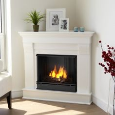 corner gel fuel fireplace real flame chateau heat up bedroom living room den