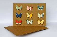 I'd like it if the butterflies were all different patterns of a same colour, or at least a yellow/orange/red or blue/green/purple.