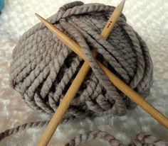 Super Bulky Yarn Acrylic Knitting Yarn in Taupe by CottonNMore, $1.99