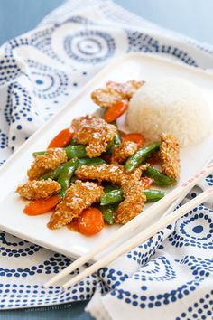 Sweet Chili Sesame Chicken - Recreating my FAVORITE Chinese take-out recipe of all time.