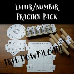 Letter and Number Practice Pack - free download