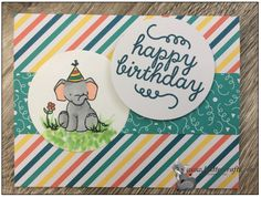 June 2015 Paper Pumpkin; Stampin Up and Birthday Elephant from Wplus9 Unforgettable stamp set