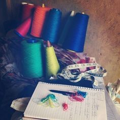 Planning woven color ways for spring 2013 #ethicalfashion #fairtrade #africa #uganda