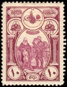 19179 - Ottoman stamp, Turkish soldier going to war ..