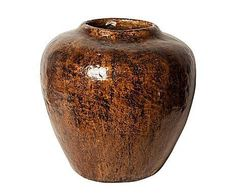 v dinasta jarrn de papel mach grande u marrn