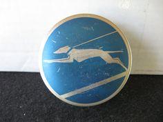 Vintage Art Deco Greyhound Typewriter Tin