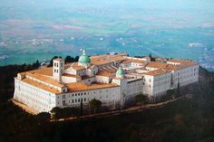 Abbey Montecassino, rebuilt after the bombing of World War II in February 1944,Frosinone