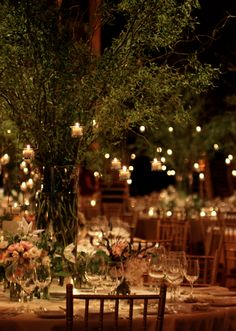 "Utterly wonderful set up, so beautiful; perfect atmosphere   ""globe lights; florals by saipua"""