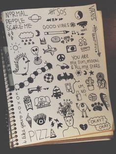 Image via We Heart It #artsy #doodles #eh #Sharpie