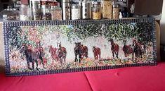 Artistic mosaic horses , mosaic art