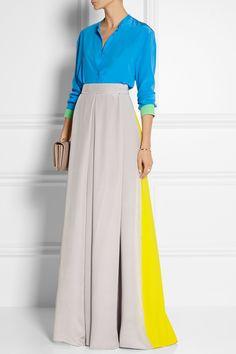 ROKSANDA ILINCIC Color-block silk crepe de chine blouse £533.75 http://www.net-a-porter.com/products/520008