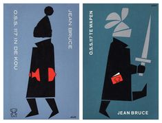 Dick Bruna O.S.S. 117 book covers - O.S.S. 117 IN DE KOU & Tactique arctique, 1965O.S.S. 117 TE WAPEN  Alertre, 1965
