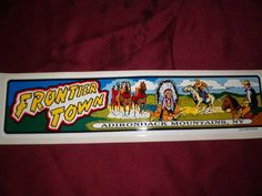 Frontier Town Adirondack Mountains,NY bumper sticker in Collectibles   eBay