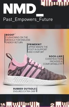 Progressive, premium, pioneering. The NMD is streetwear that's relevant for today. These women's shoes merge streetwise style with the latest adidas technologies. Learn more at adidas.com.