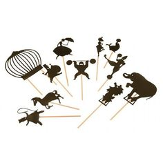 Conduct your own Shadow Puppet show with these charming Shadow Puppets from Moulin Roty, France. With these 9 shadow puppets, a lamp and a little. Circus Birthday, Circus Party, Night Circus, Hanging Mobile, Hanging Art, Seal Craft, Puppet Making, Puppet Show, Shadow Puppets