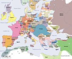 ▓ Historical map of Europe in the year 1300 AD