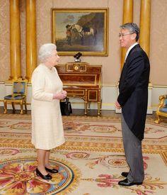 The Queen meeting the Ambassador for the Republic of Korea Park Suk-Hwan at Buckingham Palace  5 Dec 2012