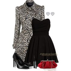 """""""Printed Coat & Patent Heels"""" by casuality on Polyvore"""