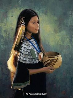 """Image detail for -Yellow Feather"""" -Native American Paintings by Karen Noles"""