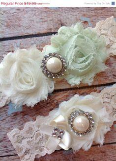 SALE/ MINT   wedding garter set / bridal  by FallenStarCoutureInc, $15.99