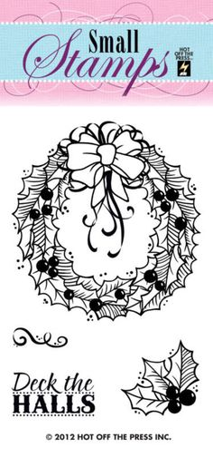 Wreath Small Stamp by Hot Off The Press Inc (4001100)