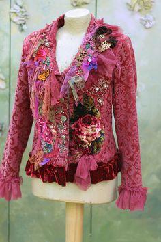 RESERVED Autumn promenade jacket bohemian romantic by FleursBoheme