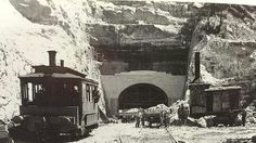 The construction of the Woy Woy Railway tunnels on the Central Coast of NSW. Tourist Info, Rail Transport, Australia Day, Old Maps, Central Coast, South Wales, The Good Old Days, Capital City, Back In The Day