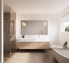 Upstairs Bathrooms, Dream Bathrooms, Amazing Bathrooms, White Bathrooms, Luxury Bathrooms, Master Bathrooms, Bathroom Renos, Laundry In Bathroom, Bathroom Renovations
