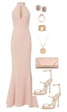 A fashion look from April 2017 featuring halter top, strappy sandals and pink purse. Browse and shop related looks. Gala Dresses, Event Dresses, Occasion Dresses, Dressy Outfits, Chic Outfits, Lovely Dresses, Beautiful Gowns, Look Formal, Elegantes Outfit