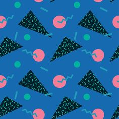 seamless pattern 80s. Vector. by Dolvalol on @creativemarket