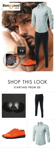 """11/2 # Banggood"" by hazreta-jahic ❤ liked on Polyvore featuring Curren, men's fashion and menswear"
