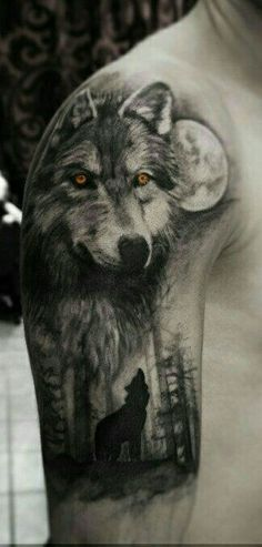 Wolf Half Sleeve Tattoo - Best Wolf Tattoos For Men: Cool Wolf Tattoo Designs and Ideas For Guys - Howling, Snarling, Angry, Alpha, Wolf Pack Half Sleeve Tattoos For Guys, Best Sleeve Tattoos, Body Art Tattoos, Henna Tattoos, Wolf Tattoo Design, Tattoo Designs, Wolf Sleeve, Wolf Tattoo Sleeve, Wrist Tattoo