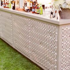 Love the pattern and color for this wedding bar